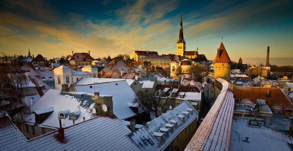Estlands hoofdstad Tallinn